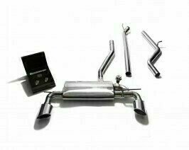 ARMYTRIX VALVE TRONIC EXHAUST to suit W176 (2012-2015)  Benz A180/A200 (2WD) 1,595 cc I4 turbo  (M 270 DE 16 AL)  Benz A250 (2WD) 2.0L turbo  (M 270 DE 20 AL)  with  Dual Blue Coated Oval Tips
