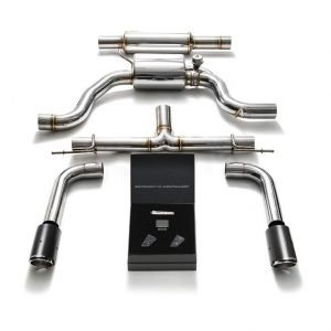 ARMYTRIX VALVE TRONIC EXHAUST to suit Golf MK7 GTi Golf MK7.5 GTi 2013-present  2.0 TSI Turbo  with  Dual Gold 3.5″  Tips