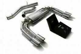 ARMYTRIX VALVE TRONIC EXHAUST to suit Audi  2013-present 2.0 Turbo S3 (8V)  Sedan with  Quad Blue Coated 3.5″ Tips