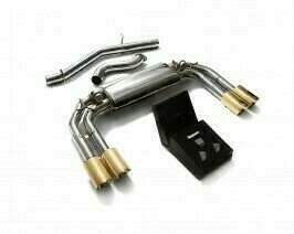 ARMYTRIX VALVE TRONIC EXHAUST to suit Audi  2013-present 2.0 Turbo S3 (8V)  Sedan with  Quad Gold 3.5″  Tips