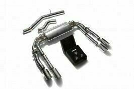 ARMYTRIX VALVE TRONIC EXHAUST to suit Audi  2013-present 2.0 Turbo S3 (8V)  Sedan with  Quad Matte Black 3.5″  Tips