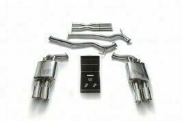 """ARMYTRIX VALVE TRONIC EXHAUST to suit Mustang GT  2018 MK6 Facelift 5.0 L """"Coyote"""" V8 435 hp with   Quad Chrome 4″ Tips"""