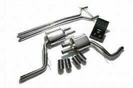 ARMYTRIX VALVE TRONIC EXHAUST to suit 970 Panamera 3.0T 2014-2016  3.0 litre V6 twin turbo panamera S / panamera 4S  Wheelbase 2,920 mm with  Quad Matte Black 3.5″  Tips
