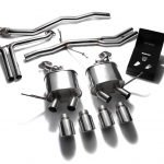 ARMYTRIX VALVE TRONIC EXHAUST to suit Macan  2.0T 2014-2018 2.0 litre L4 turbo with  Quad Matte Black 4″  Tips
