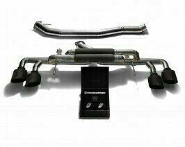 ARMYTRIX VALVE TRONIC EXHAUST to suit Nissan GT-R R35  2007- present 3.8L VR38DETT  twin-turbo V6 with  Quad Matte Black 5″  Tips
