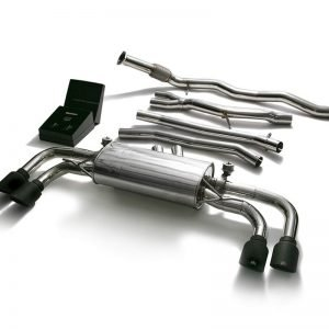ARMYTRIX VALVE TRONIC EXHAUST to suit Cayenne (E3) 2018-present 3.0 litre V6 Turbo with  Quad Matte Black 4″  Tips