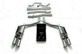 ARMYTRIX VALVE TRONIC EXHAUST to suit Maserati  Ghibli / Ghibli S  2013-2018 M157  3.0 L V6 twin turbo  F160 V6 ,350hp/410hp with   Quad Chrome 4″ Tips