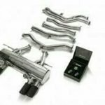 ARMYTRIX VALVE TRONIC EXHAUST to suit BMW F80 M3 F82 F83 M4 2014- present 3.0 L S55 I6 with  Quad Gold 3.5″  Tips