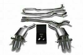 ARMYTRIX VALVE TRONIC EXHAUST to suit BMW  F10 M5 2011 – 2017 S63 4.4L V8 twin turbo with   Quad Chrome 3.5″ Tips