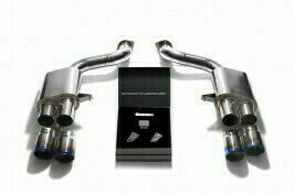 ARMYTRIX VALVE TRONIC EXHAUST to suit 599 GTO 2011-2012   6.0 L Tipo F140C V12 with  Quad Blue 3.5″ Tips