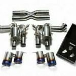 ARMYTRIX VALVE TRONIC EXHAUST to suit F12 Berlinetta 2012-2016  F12 TDF 2016-2017 6.3L V12 with  Quad Blue 4″ Tips