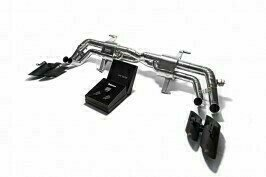 ARMYTRIX VALVE TRONIC EXHAUST to suit Hurac�n LP580 / LP610 2014- present 5.2 V10  with  Quad Matte Black 4″ Tips