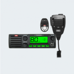 This DIN-sized UHF CB Radio is the industry leader in both performance and design.