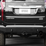 PIAK Protection to suit Rear Bar Towbar – Matte Black Recovery Points Mitsubishi Pajero Sport QE 2016-2020