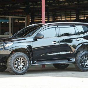 PIAK Protection to suit Side Step Roader- AL Checker Plate  Anodized Black Mitsubishi Mitsubishi Pajero Sport QE 2016-2020