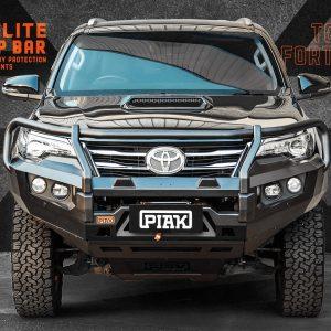 PIAK Protection to suit Fortuner 2015 Elite Post Bar Orange tow points, Black Under Bod Protect