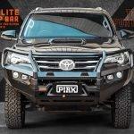 PIAK Protection to suit Fortuner 2015 Elite Post Bar Black tow points, Orange Under Bod Protect