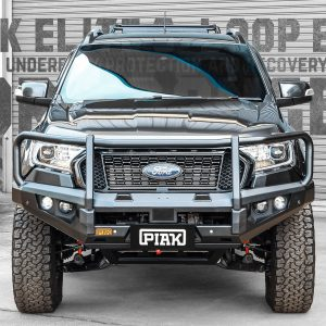 PIAK Protection to suit Ford Ranger PX3 Elite Post Bar Black tow points, Black Under Bod Protect