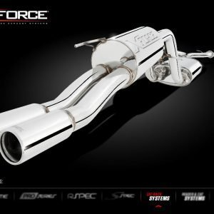 FPV FALCON BA-BF PURSUIT UTE 2003-2007 TWIN 2.5″ CAT-BACK SYSTEM STAINLESS STEEL SMALL MUFFLER