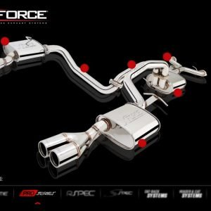 FPV FALCON BF GT/GT-P 2006-2007 TWIN 2.5″ QUAD TIP OUTLET NON-POLISHED SYSTEM STAINLESS STEEL