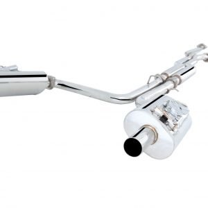 LEXUS IS F 2007-14 STAINLESS STEEL TWIN 2.5″ CAT-BACK EXHAUST SYSTEM WITH VAREX MUFFLERS