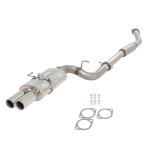 NISSAN 200SX S14 1994-1998 3″ 409 STAINLESS CAT BACK SYSTEM WITH TWIN TIP OVAL REAR