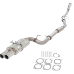 NISSAN 200SX S15 2000-2002 409 STAINLESS STEEL TURBO BACK SYSTEM METALLIC 100 CELL CAT WITH TWIN TIP MUFFLER STAINLESS STEEL 3″