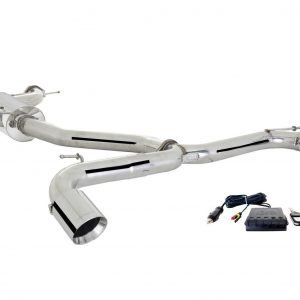 VW GOLF GTI MK 7 & MK 7.5 2013-2020 STAINLESS STEEL 3″ CAT BACK EXHAUST SYSTEM WITH VAREX