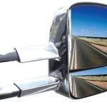 Clearview Towing Mirrors [Heated; Power-fold; Indicators; Electric; Chrome] – Ford Everest