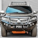 Piak Elite Loop Bar to suit Pajero Sport QE 2016-2020 Black Tow Points (Replace water bottle)